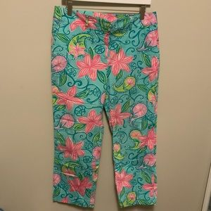 Lilly Pulitzer Cropped Pants Size 10